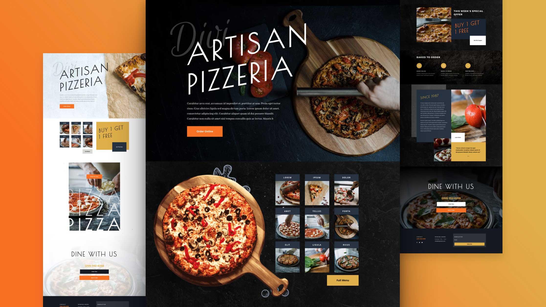Site pour pizzeria