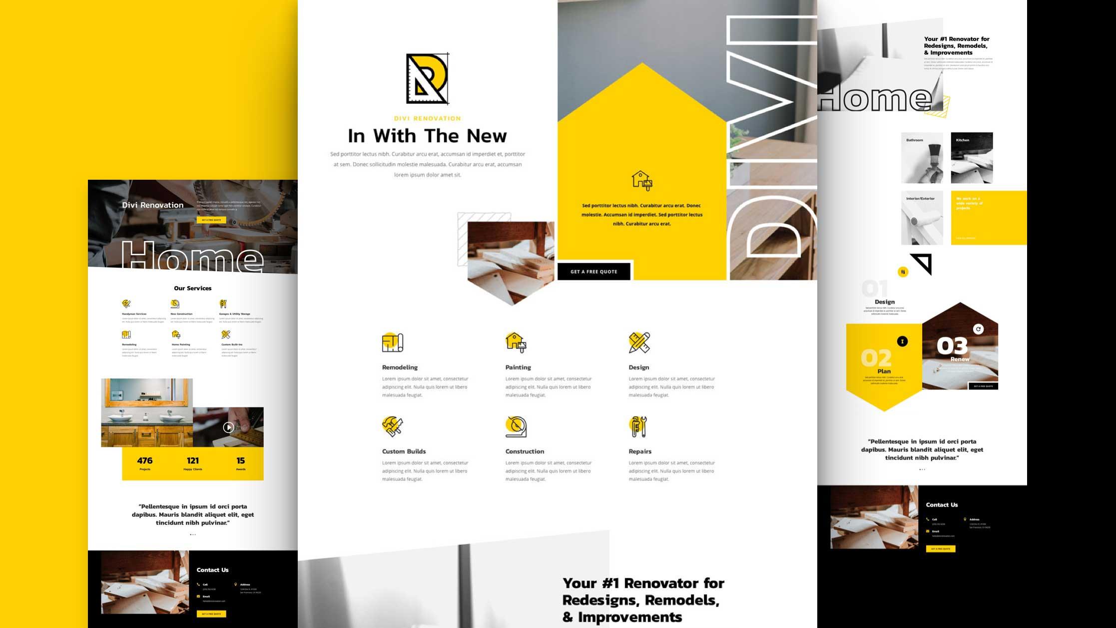 Site internet pour Entreprise de rénovation - Site internet pas cher