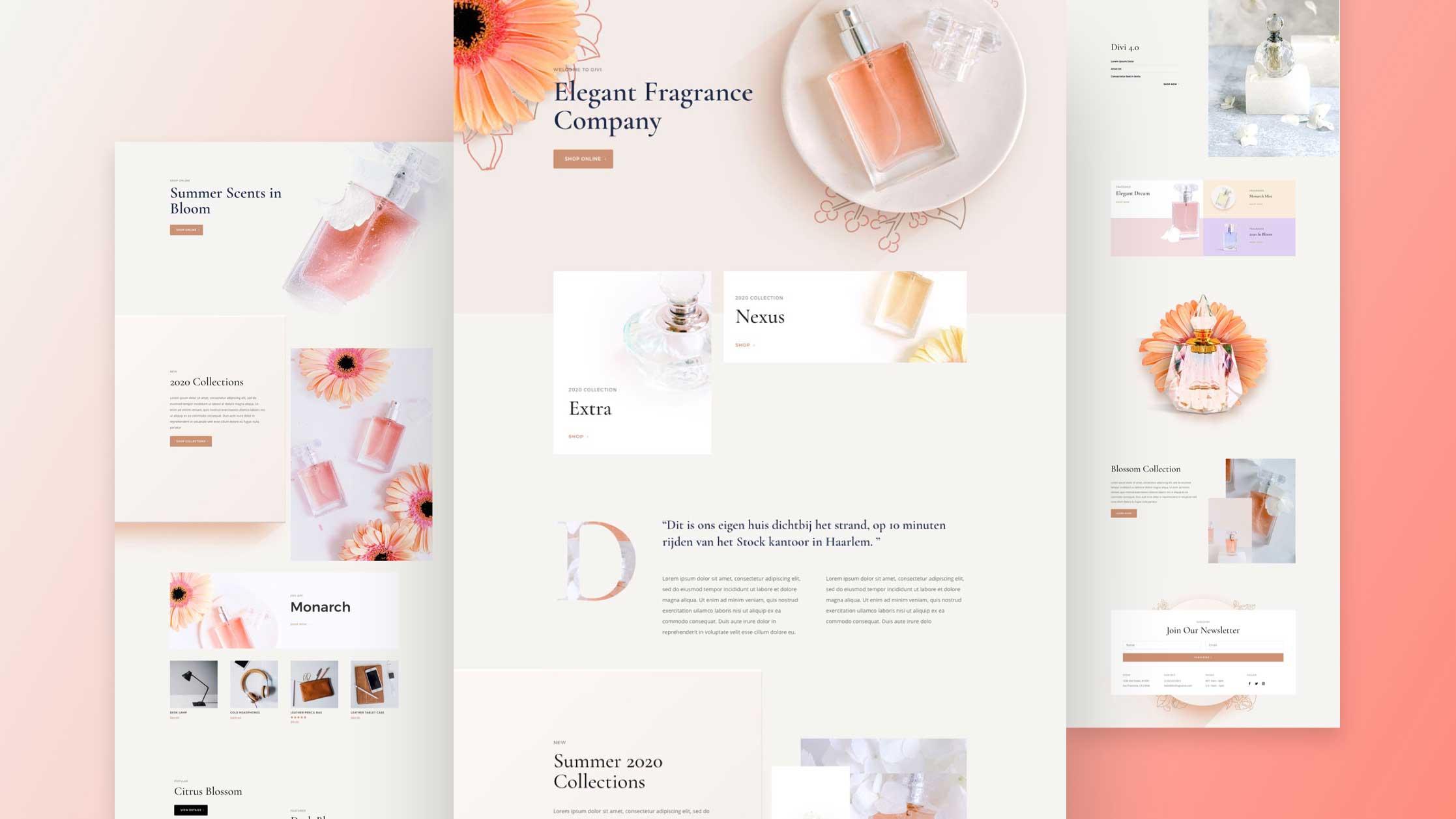 Site internet pour parfumerie