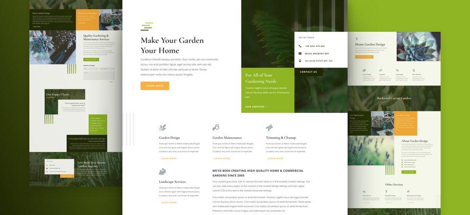 Création de site internet pour Jardinier, jardinerie, fleuriste...