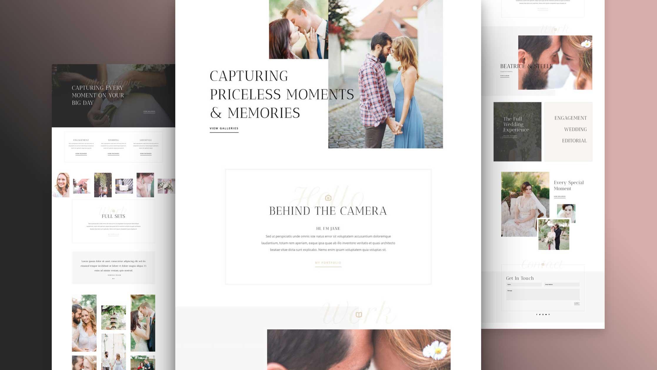 Création de site internet pour Photographe, mariage, famille