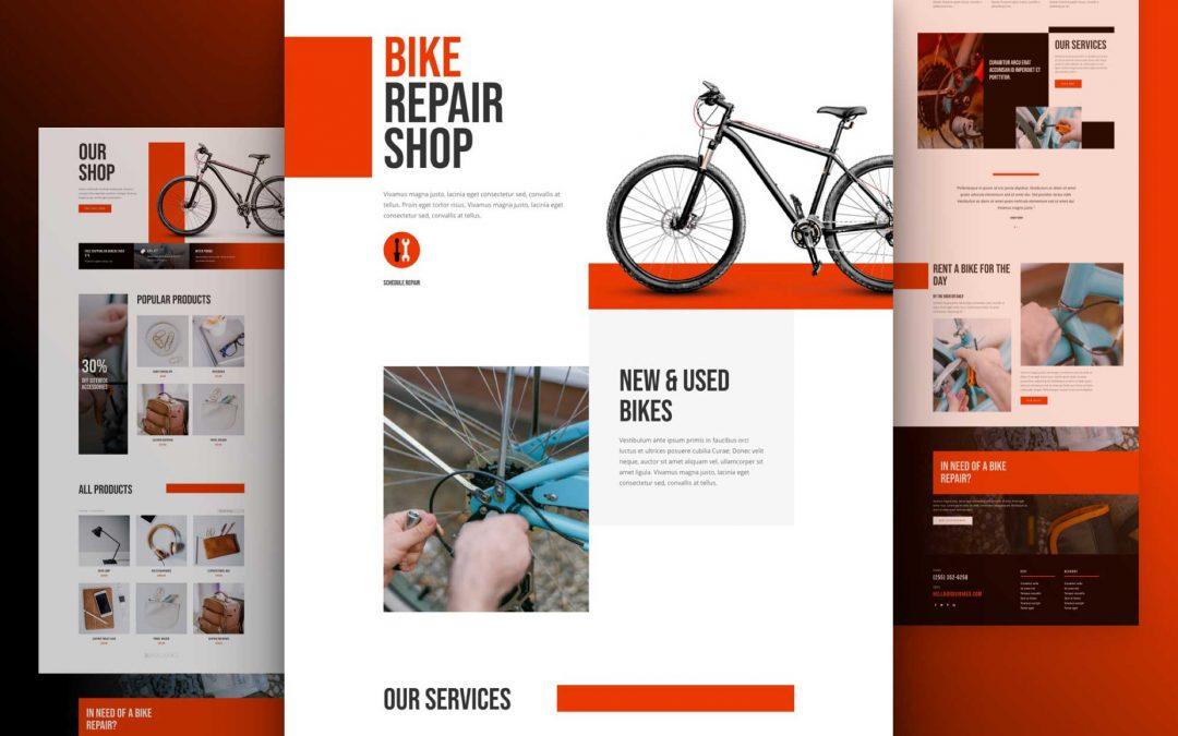 Site internet pour réparation de vélos