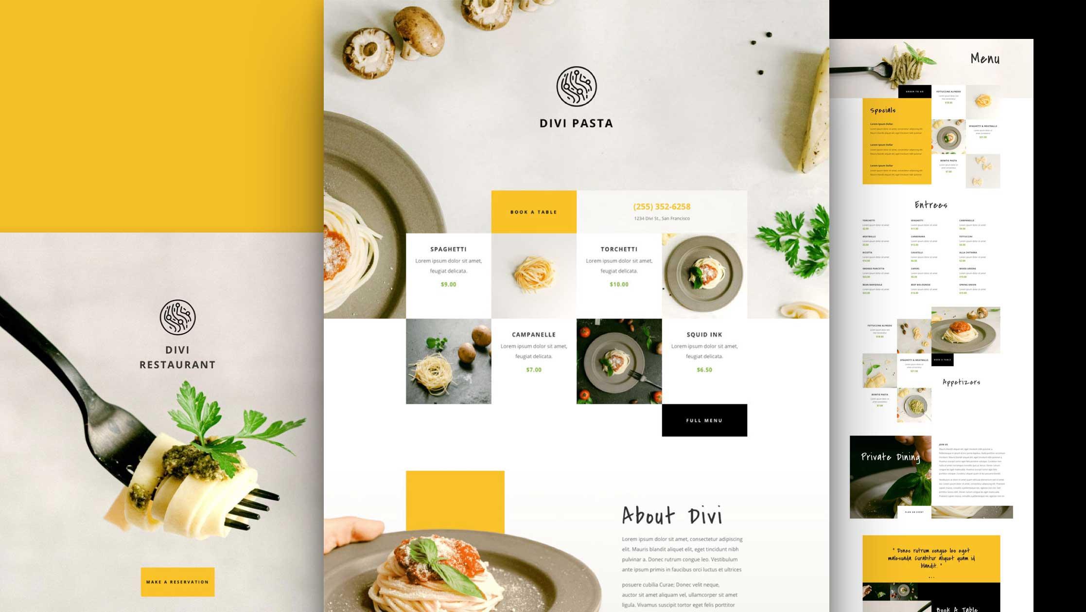 Création de site internet pour Restaurant italien ou autres