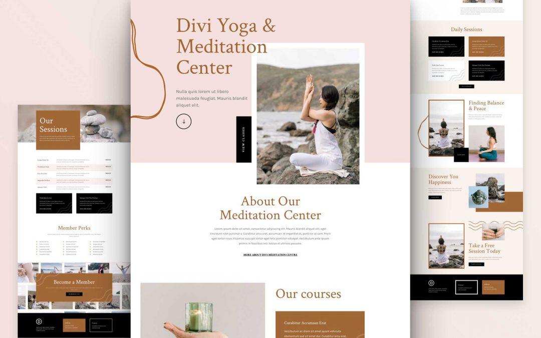 Création de site internet pour Cours de Yoga, Méditation, Relaxation...