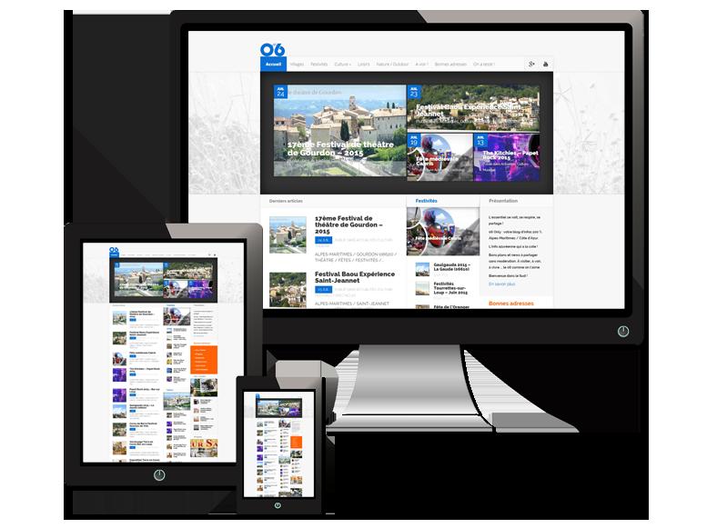 Création de site internet Responsive Web design (RWD) l CREAZUR [2005]